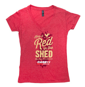 Case IH KEEP IT RED IN THE SHED Womens T-shirt