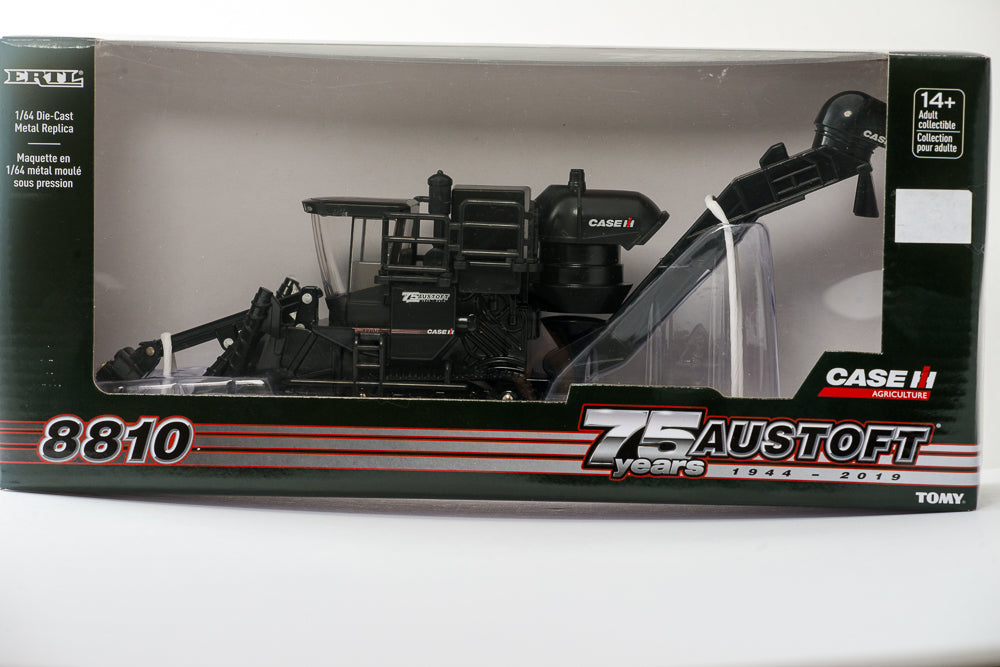 1/64 Case IH A8810 Austoft Sugar Cane Harvester Black 75th Anniversary Edition