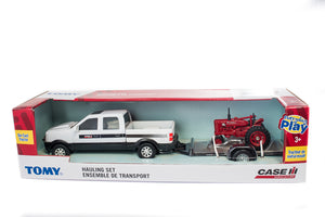 1/32 Case IH Pickup With IH Farmall SUPER MTA and Utility Trailer