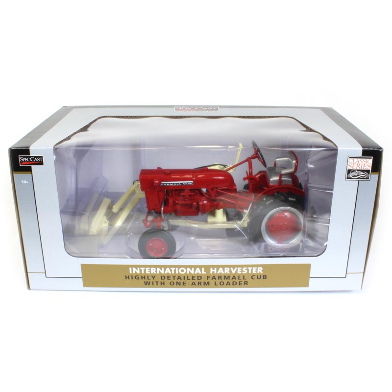1/16 International Harvester Farmall Cub Tractor with One-Arm Loader
