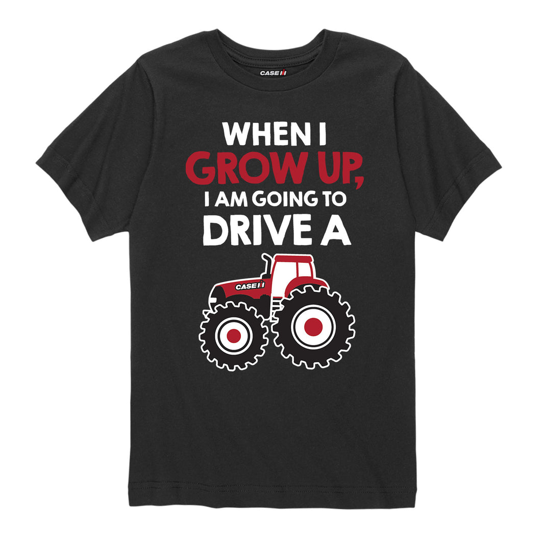 When I Grow up Drive Case IH  - Youth Short Sleeve Tee
