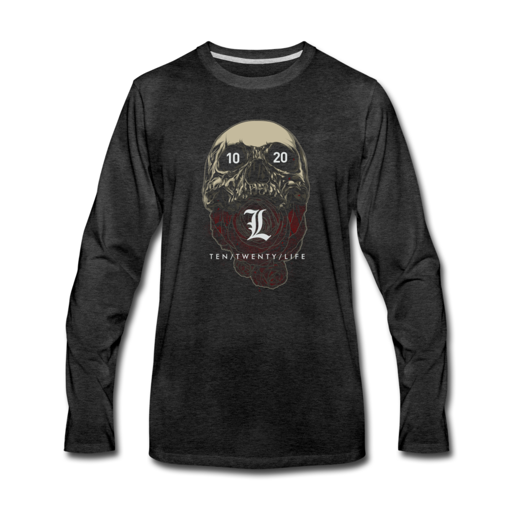 10/20/Life Skull 3.0 Unisex Long Sleeve - charcoal gray