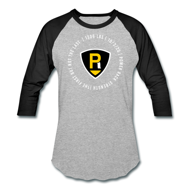 The First Unisex Raglan - heather gray/black
