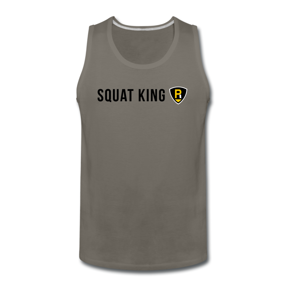 Squat King Men's Tank - asphalt gray