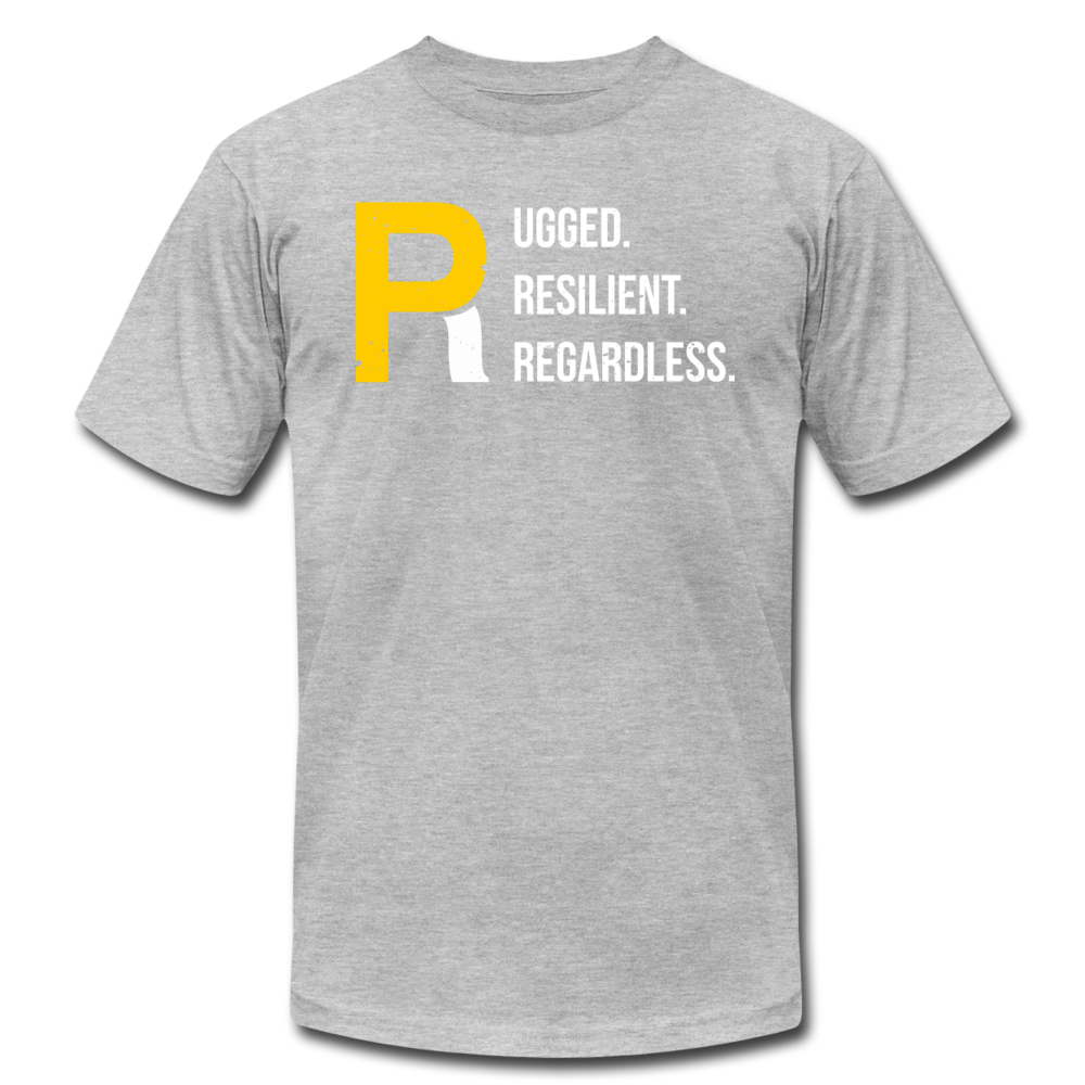Rugged Resilient Regardless Unisex Tee - heather gray