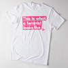 "Unisex White Cotton ""Feminist"" Tee"