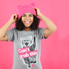 "Unisex Grey Vintage Blend ""Can't Grab This"" Tee"