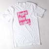 "Unisex White Cotton ""Fight Like a Girl"" Tee"