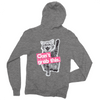 "Unisex Grey Fleece ""Can't Grab This"" Full-Zip Hoodie"