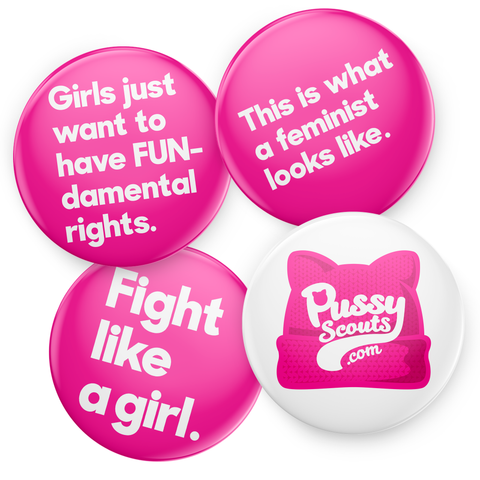 Activist 1-Inch Mini Button Four-Pack