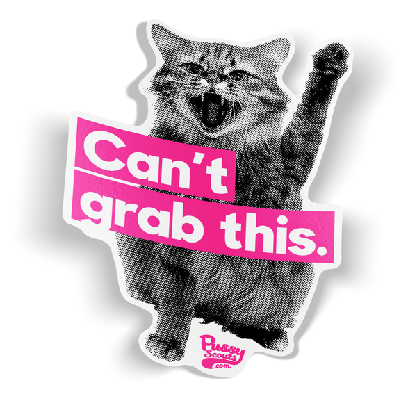 """Can't Grab This"" 4-Inch Contour Cut Bumper Sticker"