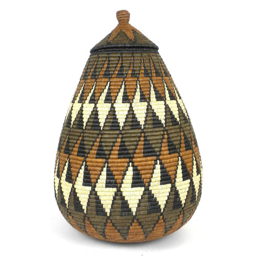 Zulu Wedding Basket -OS-14 - Ilala Weavers