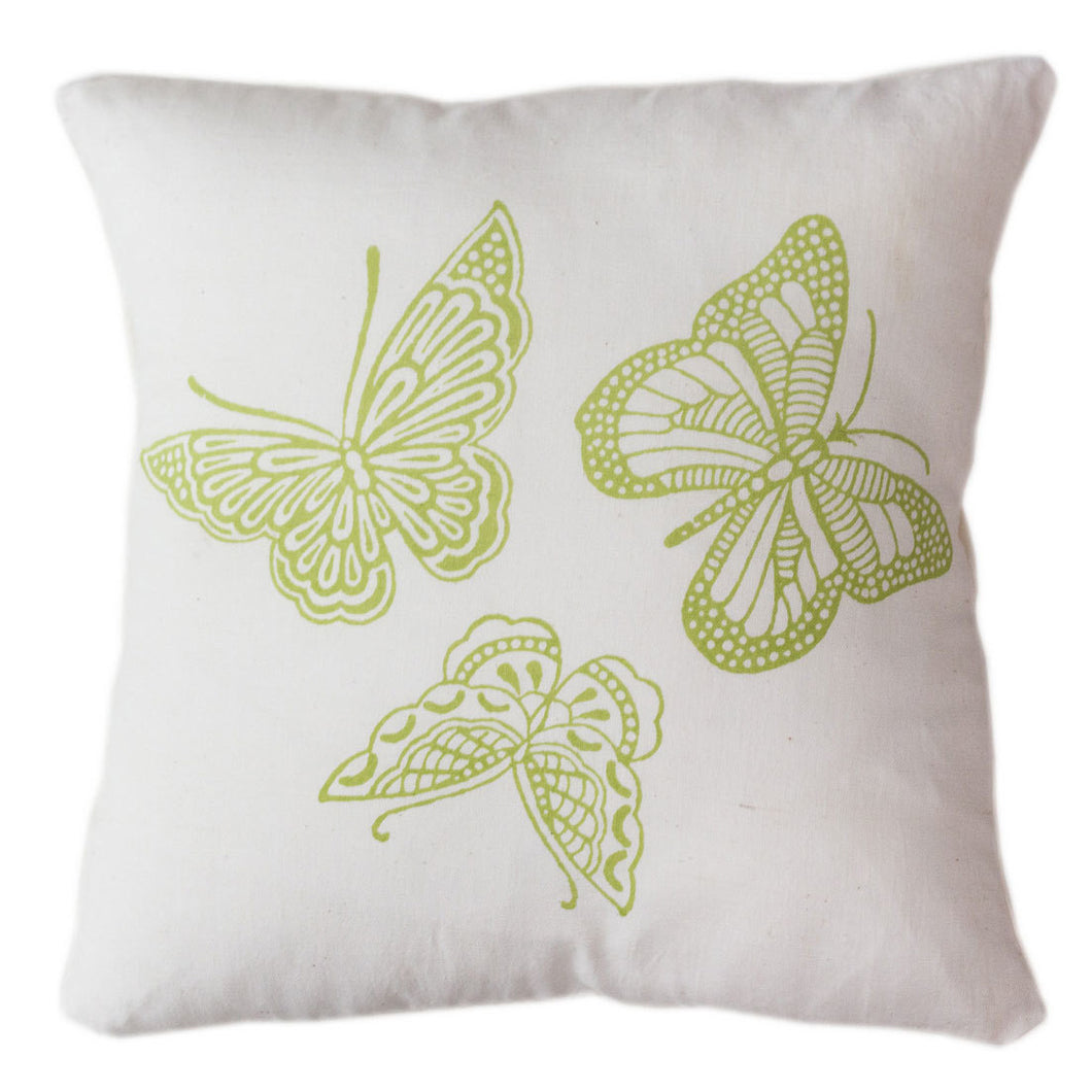 Butterfly Pillow Cover 16 by 16 - Sustainable Threads (L)