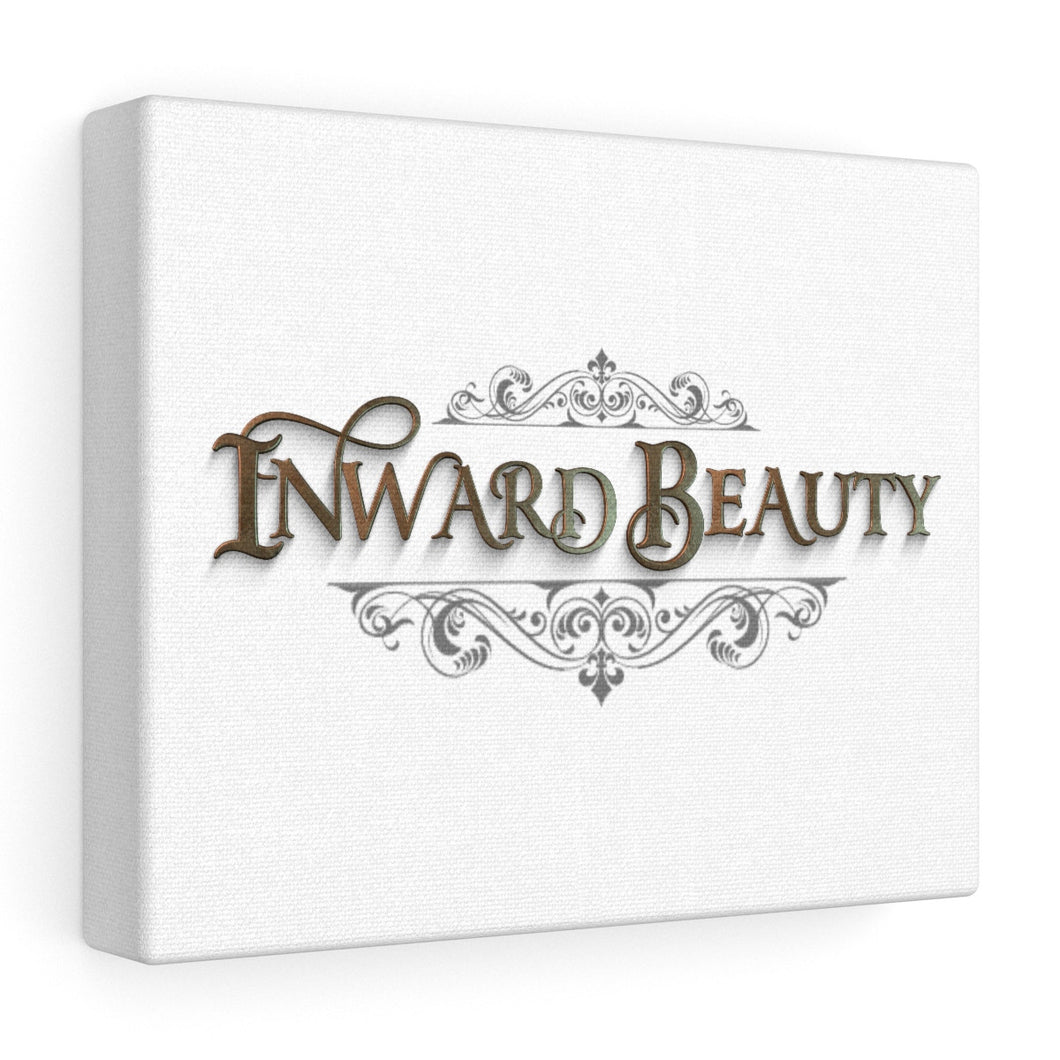 Inward Beauty-Stretched canvas-white, inspired by 1 Peter 3:3-4