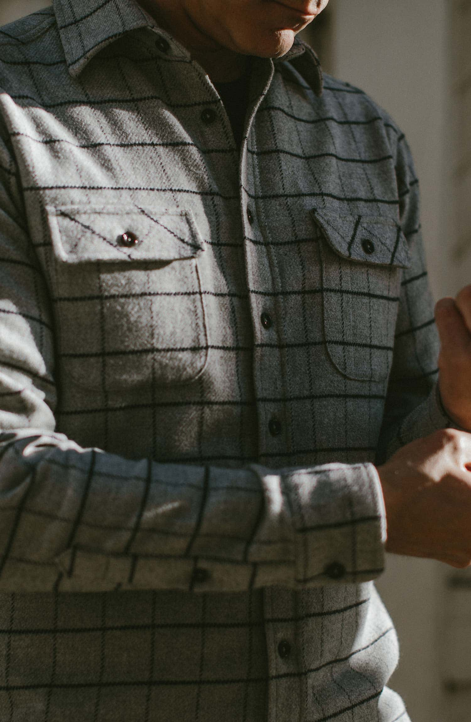カリフォルニア The California in Ash Windowpane Collection
