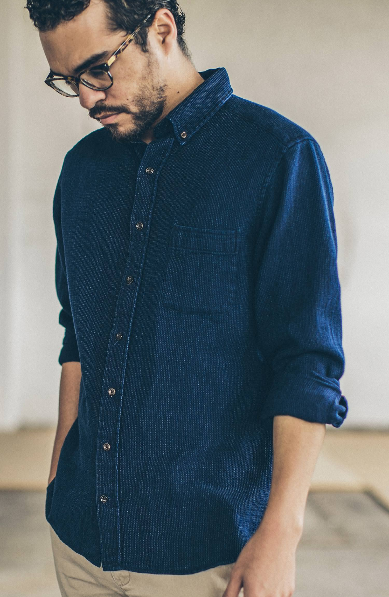 The Jack in Indigo Waffle Collection