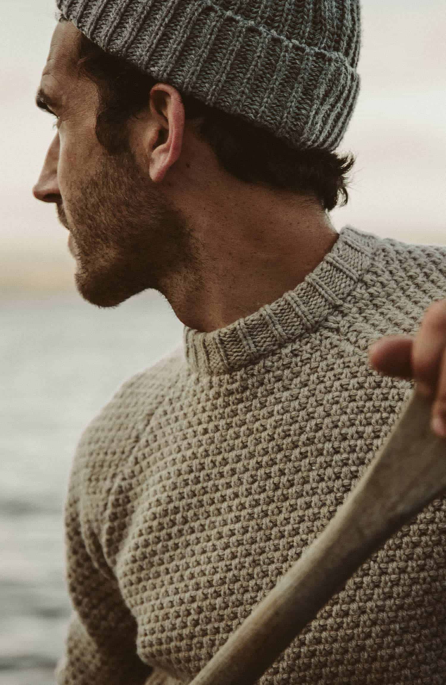 フィッシャーマンズセーター The Fisherman Sweater in Natural Melange Collection