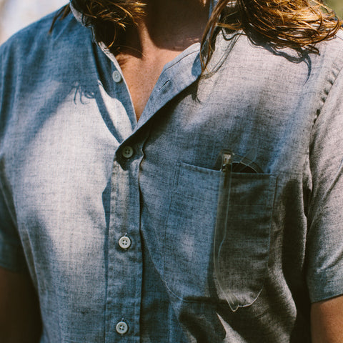 ショートスリーブジャック<br>The Short Sleeve Jack in Steel Chambray - featured image