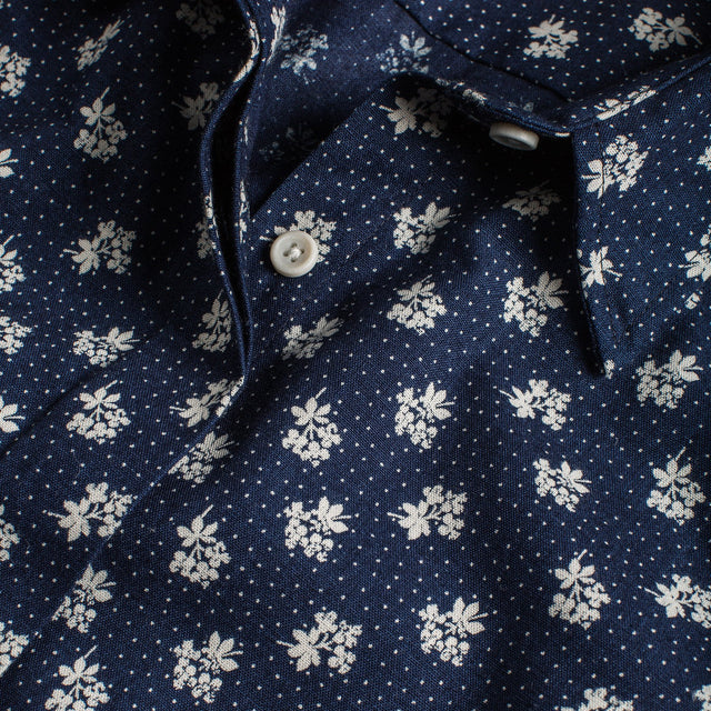 ミッシェルシャツ<br>The Michelle Shirt in Indigo Print
