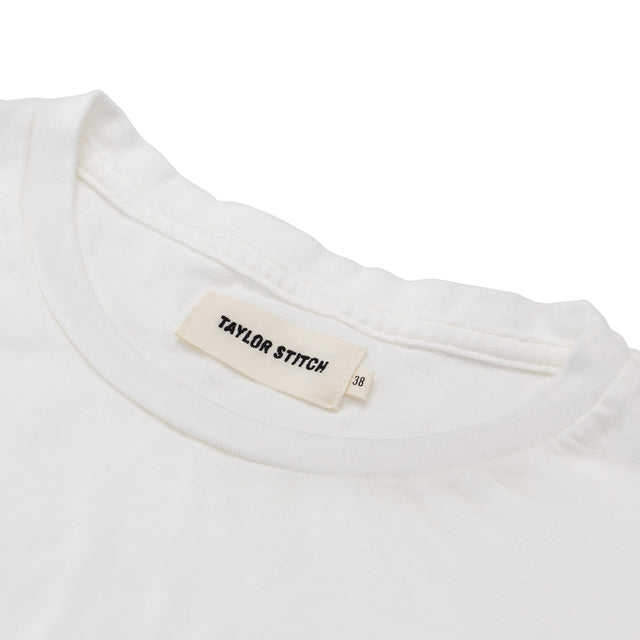 ポケットTシャツ<br>Pocket T-shirt in White