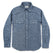 チョアシャツ<br>The Chore Shirt in Indigo Striped Chambray: Product Image