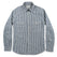チョアシャツ<br>The Chore Shirt in Natural Striped Chambray: Product Image