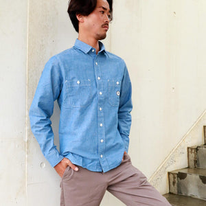 【RE STITCH】<br>カリフォルニア<br>The RE STITCH California in Blue Everyday Chambray