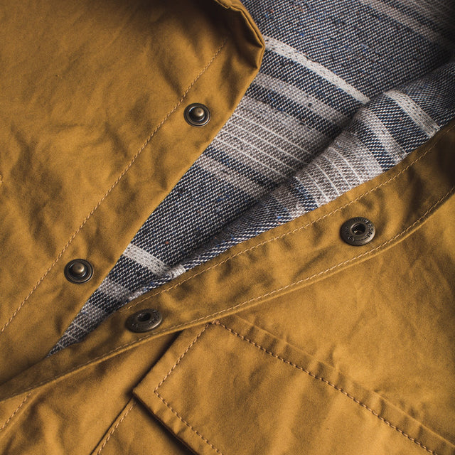 チョアジャケット<br>The Chore Jacket in Mustard Dry Wax Canvas
