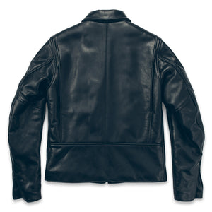 モトジャケット<br>The Moto Jacket in Black Steerhide