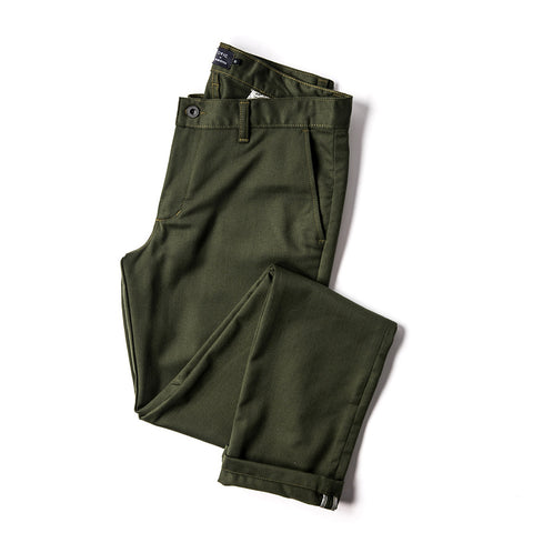 コミューターチノ<br>The Commuter Chino in Olive Merino 4S - alternate view