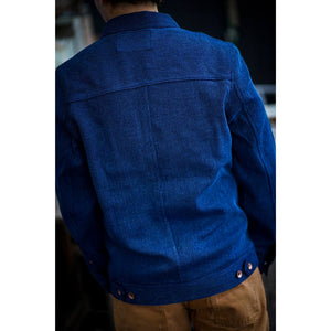 【RE STITCH】<br>ロングホールジャケット<br>The RE STITCH Long Haul Jacket in Indigo Waffle