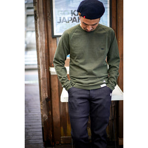 【RE STITCH】<br>ヘビーバッグロングスリーブ<br>The RE STITCH Heavy Bag Long Sleeve for BRIEFING in Olive