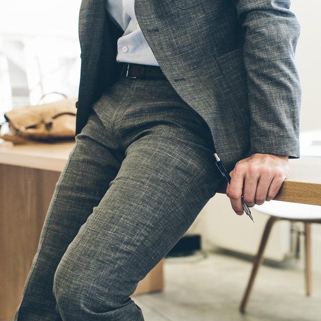 The Telegraph Trouser in Charcoal