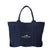 トートバック<br>Canvas Tote Bag in Navy: Product Image