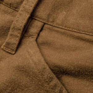 キャンプパンツ<br>The Camp Pant in British Khaki Moleskin