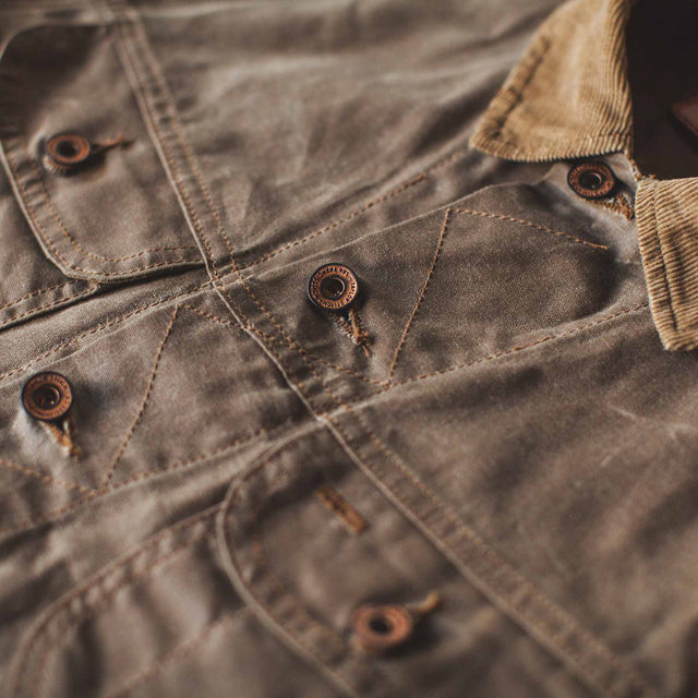 The Long Haul Jacket in Field Tan Waxed Canvas