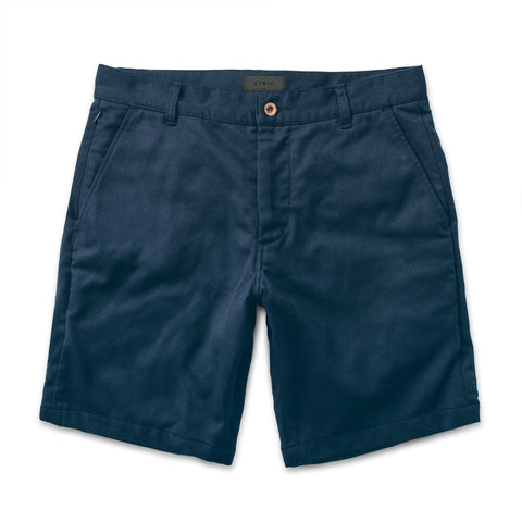 コミューターショート<br>The Commuter Short in Navy Merino 4S - alternate view