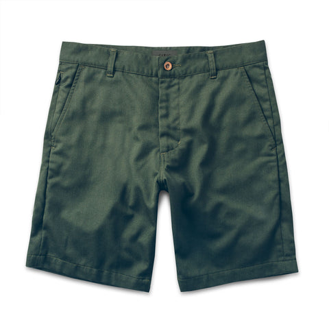 コミューターショート<br>The Commuter Short in Olive Merino 4S - alternate view