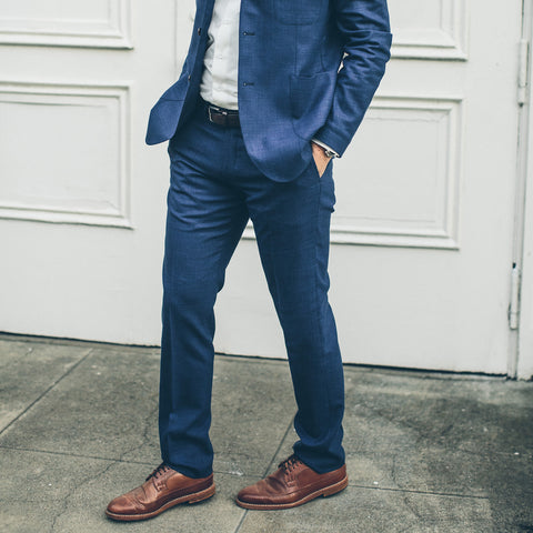 テレグラフトラウザー<br>The Telegraph Trouser in Cobalt - featured image