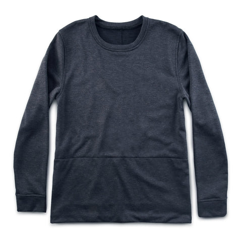 チャンドラースウェットシャツ<br>The Chandler Sweatshirt in Indigo Melange - alternate view