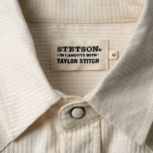 【ウィンターセール】<br>【RE STITCH】<br>ウエスタンシャツ<br>The RE STITCH Western Shirt in Natural Corded Cotton