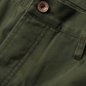 キャンプパンツ<br>The Camp Pant in Olive Reverse Sateen