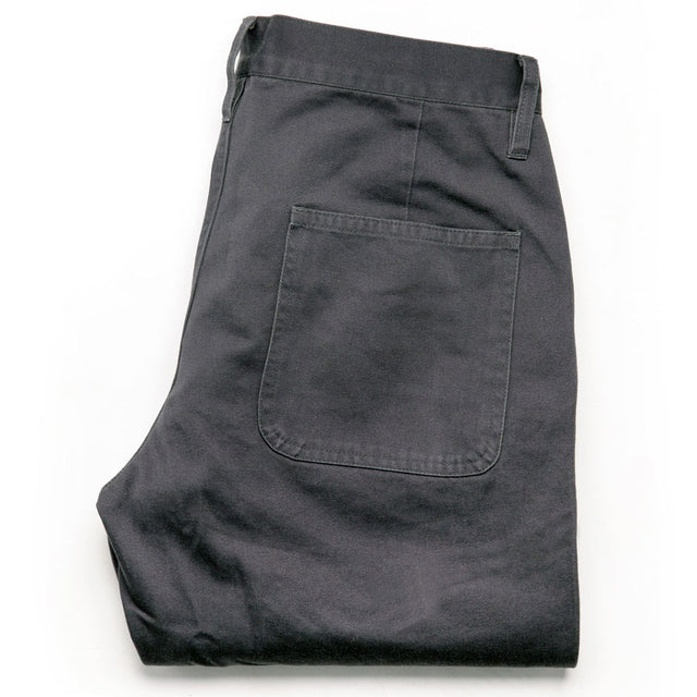 キャンプパンツ<br>The Camp Pant in Charcoal Reverse Sateen