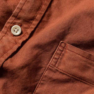 ショートスリーブジャック<br>The Short Sleeve Jack in Terracotta Oxford