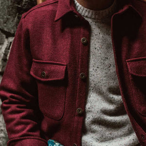 エクスプローラーシャツ<br>The Explorer Shirt in Burgundy Wool