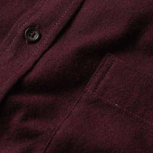 ジャック<br>The Jack in Brushed Maroon Oxford