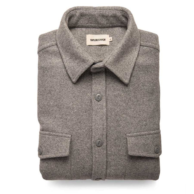 マリタイムシャツジャケット<br>The Maritime Shirt Jacket in Heather Ash Weave