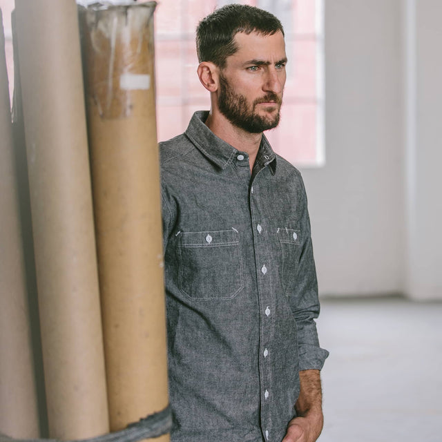 カリフォルニア<br>The California in Charcoal Everyday Chambray