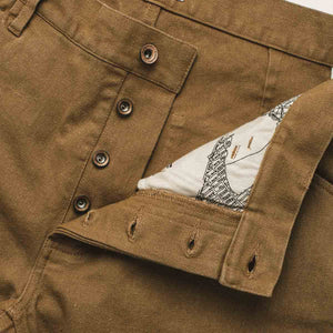 キャンプパンツ<br>The Camp Pant in British Khaki Tuff Duck