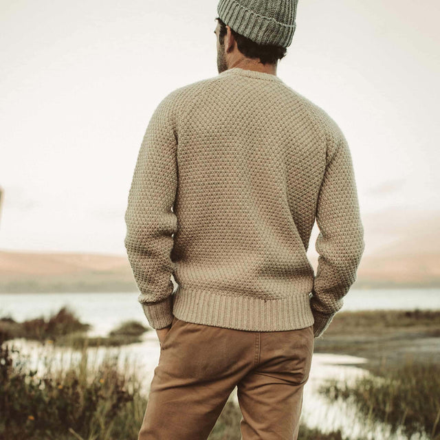 フィッシャーマンズセーター<br>The Fisherman Sweater in Natural Melange